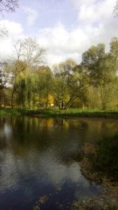 Řeka Úslava v parku v Blovicích